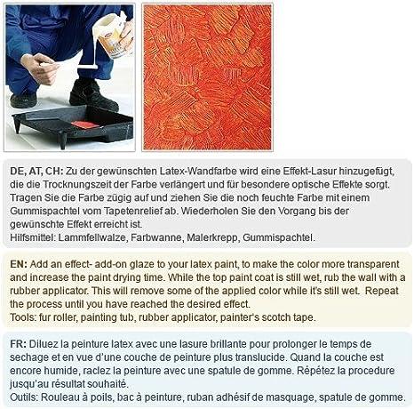 Papier peint intiss/é blanc /à peindre textur/é EDEM 301-60 d/écorative de tissu grossier jute double 106 cm 26,50 m2