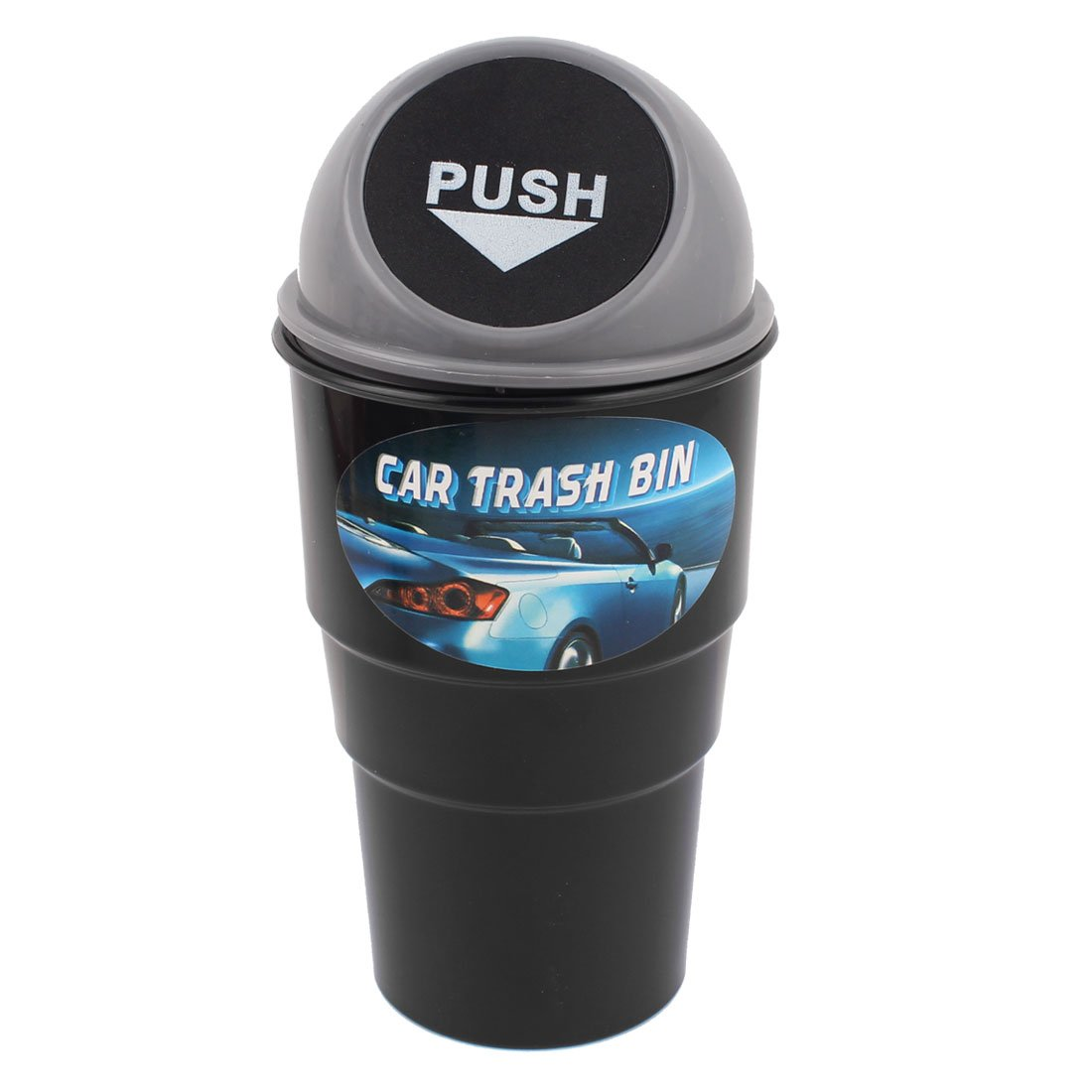 uxcell Plastic Trash Rubbish Can Garbage Dust Holder Gray a13031400ux0563