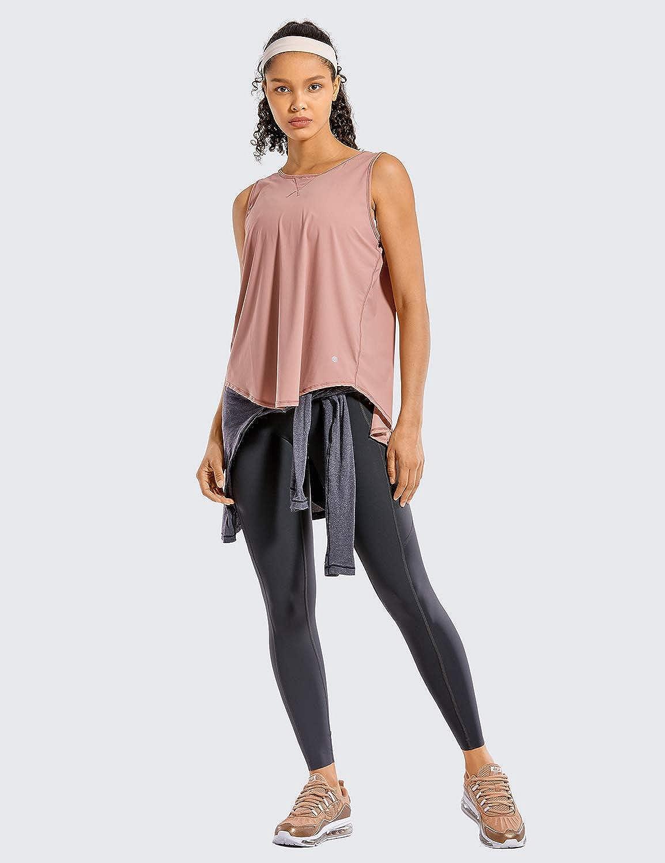 CRZ YOGA Damen Yoga Tank Tops Activewear /Ärmellose Shirts Netz R/ückenfrei Training Kleidung