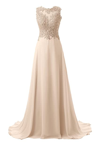 Review Callmelady Lace Appliqued Prom Dresses 2018 Long Evening Gowns for Women Formal
