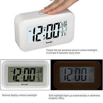 BXT LED despertador Matin alarma reloj Digital Despertador Matin Digital LCD Alarm Clock Calendario Reloj Alarm Clock Termómetro Despertador Temperatura ...