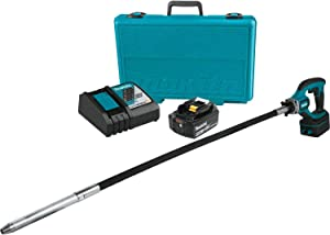 Makita XRV01T 5.0 Ah 18V LXT Lithium-Ion Cordless Concrete Vibrator Kit, 4'