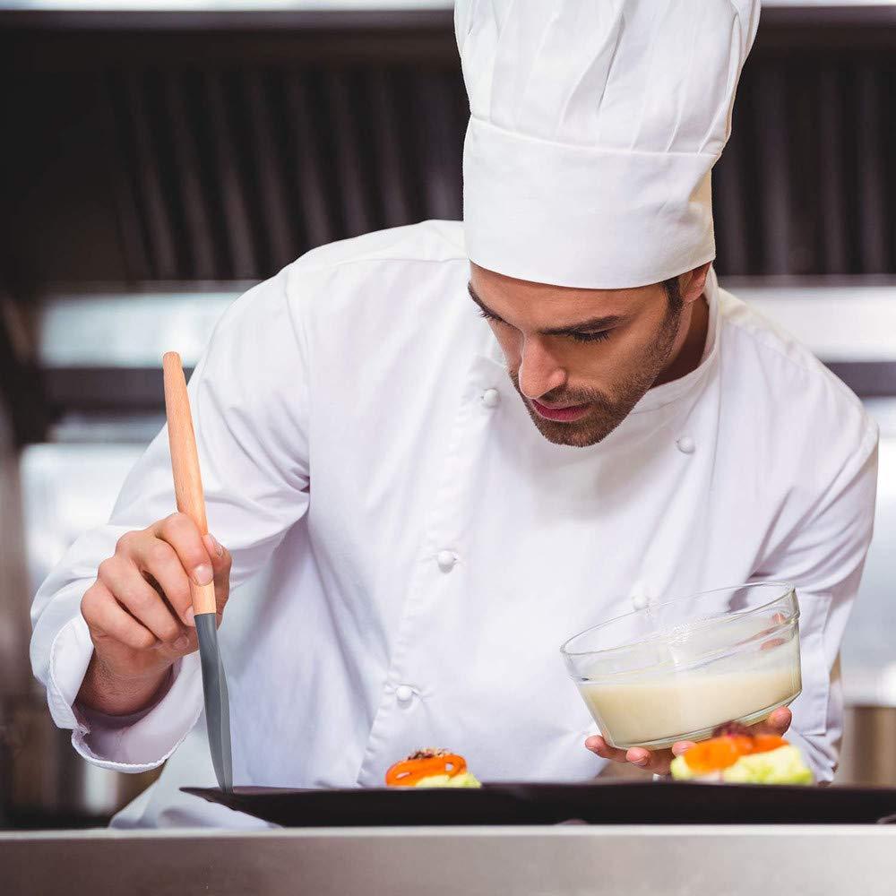 Silicone de qualit/é Alimentaire,12pcs Set ustensile pour Casseroles antiadh/ésives EKKONG Kit Ustensiles de Cuisine en Silicone et Bois