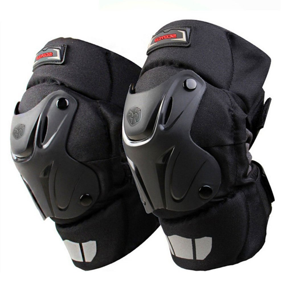 CRAZY AL'S CAK Motorcycle Motocross Racing Knee Guards Pads Braces Protective Gear Black