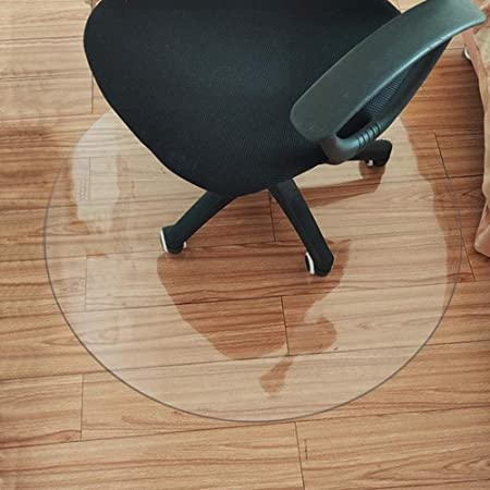 JXing Tappetino per Sedia da Ufficio Protezione per Pavimenti in Moquette Rotonda in PVC Ad Alta Trasparenza Antiscivolo,2mm*Thickness-200cm