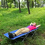 F&D Portable Folding Camping Cot Ultralight Beach Bed...