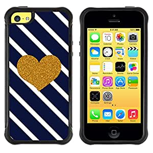 Lady Case@ Heart Lines Navy Blue Glitter Love Valentines Rugged Hybrid Armor Slim Protection Case Cover Shell For iphone 5C CASE Cover ,iphone 5C case,iphone5C cover ,Cases for iphone 5C
