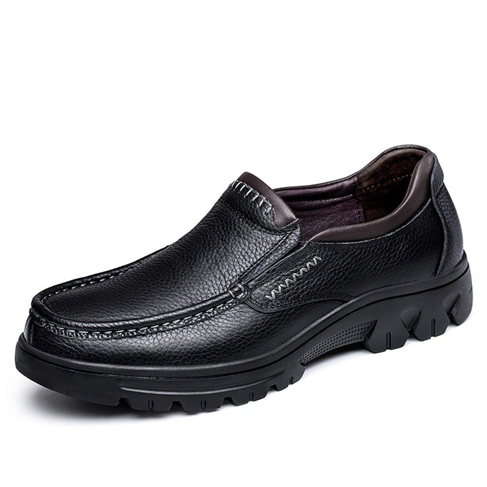 Mocasines y Zapatos de Cuero de los Hombres Zapatos de Conducción Zapatos Cómodos para Caminar para Oficina y Carrera 38 EU|Segundo