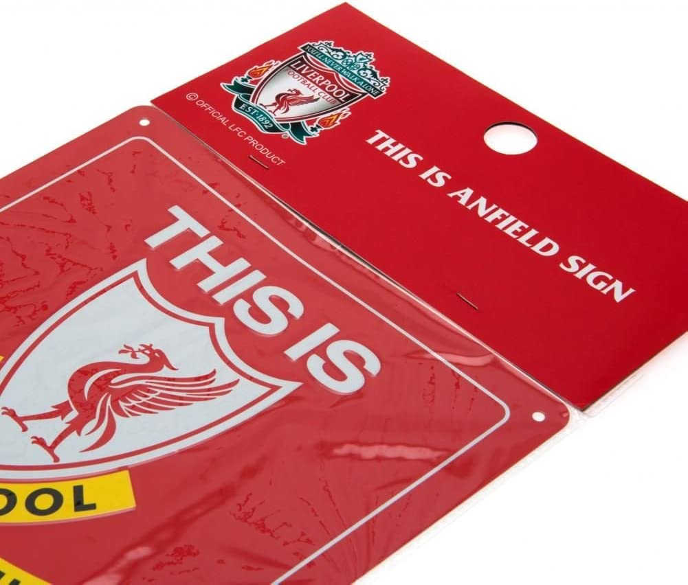 """Liverpool FC Metal Schild /""""This is Anfield/"""""""