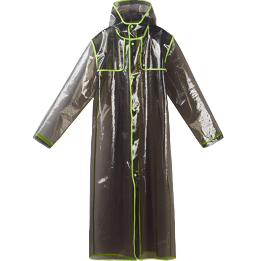 Aihifly tragbar Erwachsene Männer und Frauen Regenmantel Outdoor Wandern Bergsteigen Transparent Regenmantel Wasserdicht Gezeitenbeutel Poncho