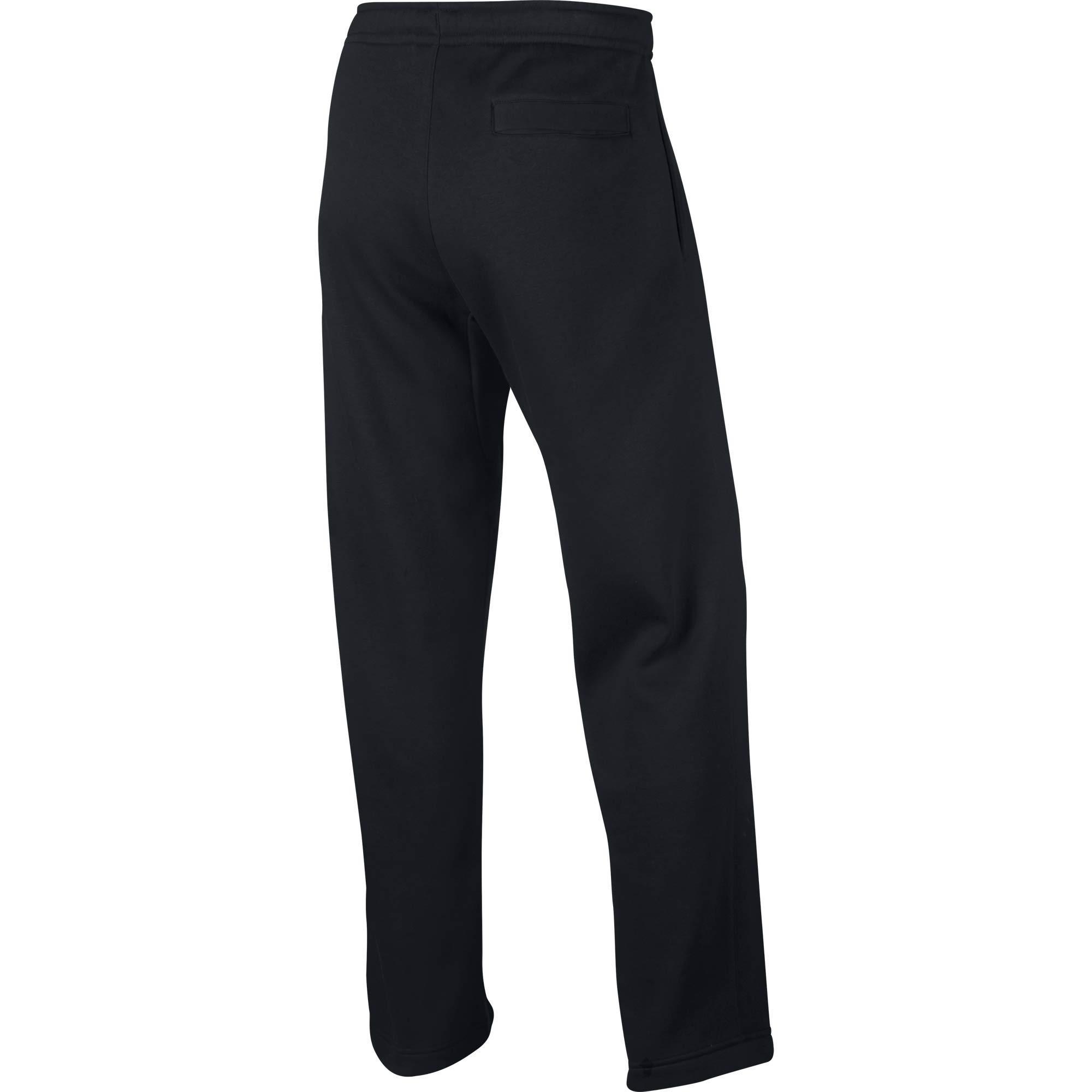 Nike Men's Sportswear Open Hem Club Pants, Black/White, Small