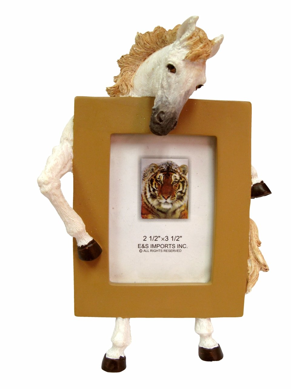 White Standing Horse Photo Frame For 2.5 by 3.5 Inches Picture by E&S Pets (Image #1)