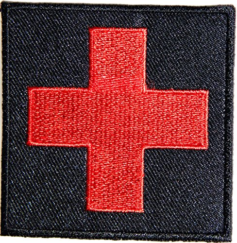 American Red Cross Medic First Aid Nurse Doctor Logo Jacket Uniform Patch Sew Iron on Embroidered Sign Badge Costume (Vinyl 4 Piece Nurse Costume)