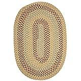 Brook Farm Polypropylene Braided Rug, 4-Feet by 6-Feet, Tea Stained For Sale