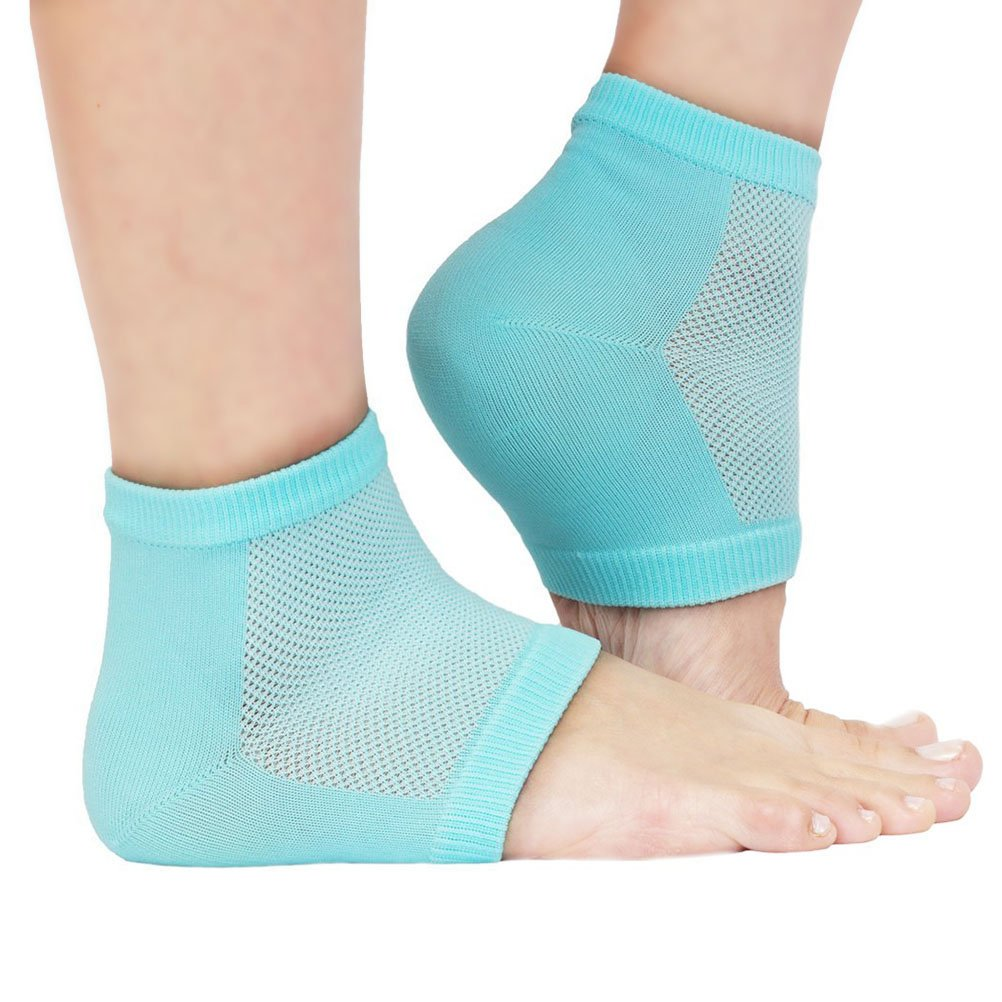 Beaupretty Gel Heel Socks Spa Vented Moisturizing Open Toe Comfy Recovery Socks for Dry Hard Skin Recovery (Light Green) by Beaupretty