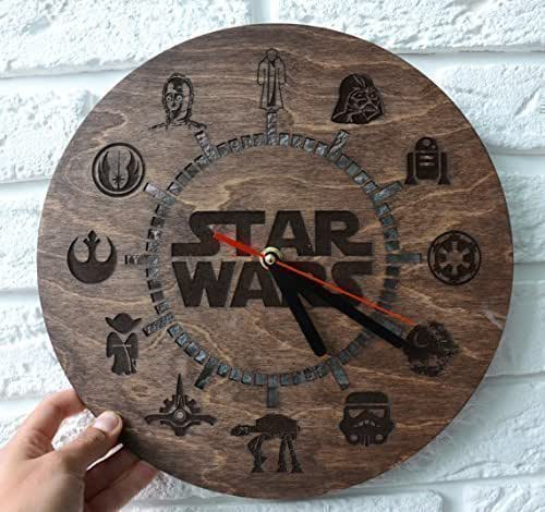 wooden wall clock for kitchen star wars gifts. Black Bedroom Furniture Sets. Home Design Ideas