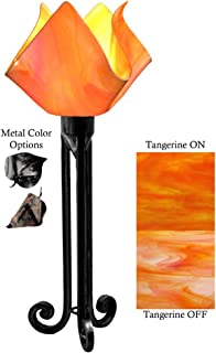 product image for Jezebel Radiance Torch Light. Hardware: Black. Glass: Tangerine, Flame Style