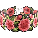 Women Chic Jewelry Boho Style Rose Flower Embroidered Collar Choker Necklace WelcomeShop