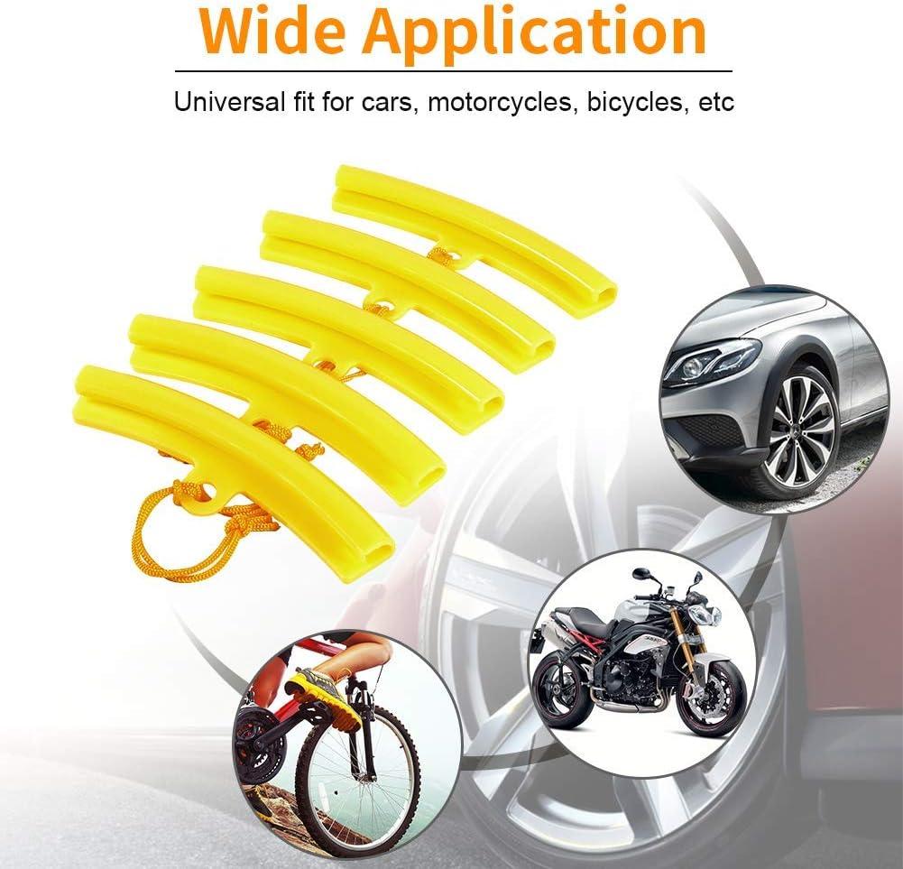 Orange Rim Blades Wheel Protectors Tire Changing Tools Rim Protector Tyre Remove Edge Savers Removing Tool for Motorcycle Bike 5 Pcs Yosoo Health Gear Motorcycle Rim Protector for Changing Tires