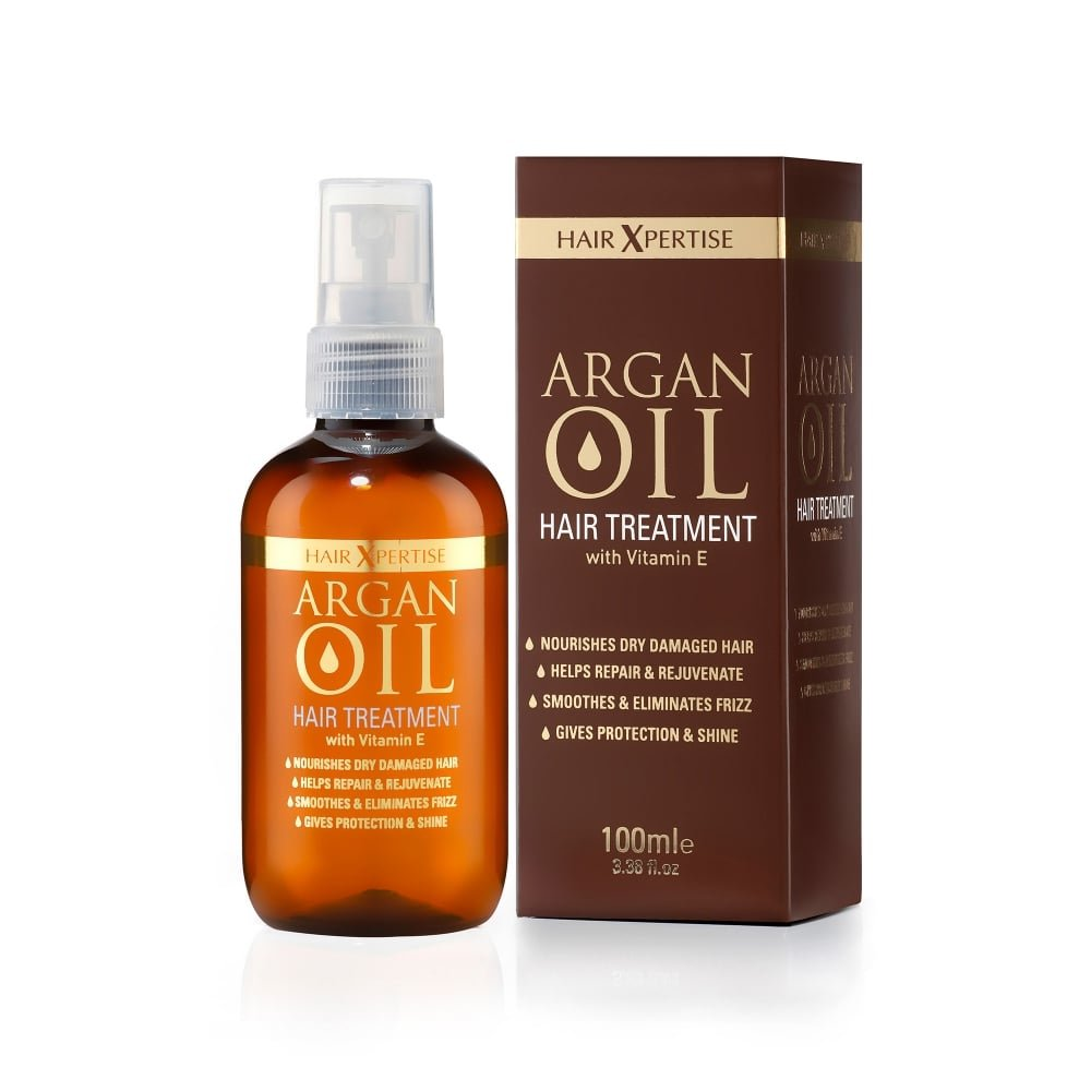 Hair Xpertise Moroccan Argan Oil- Treatment For Damaged Hair | Nourishes And Moisturises Dry Hair | Repairs, Smoothes And Brings Life To Your Hair! - For All Hair Types [Vegan] 100ml