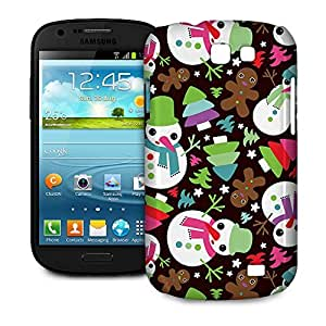 Phone Case For Samsung Galaxy Express - Happy Cute Snowman Glossy Wrap-Around