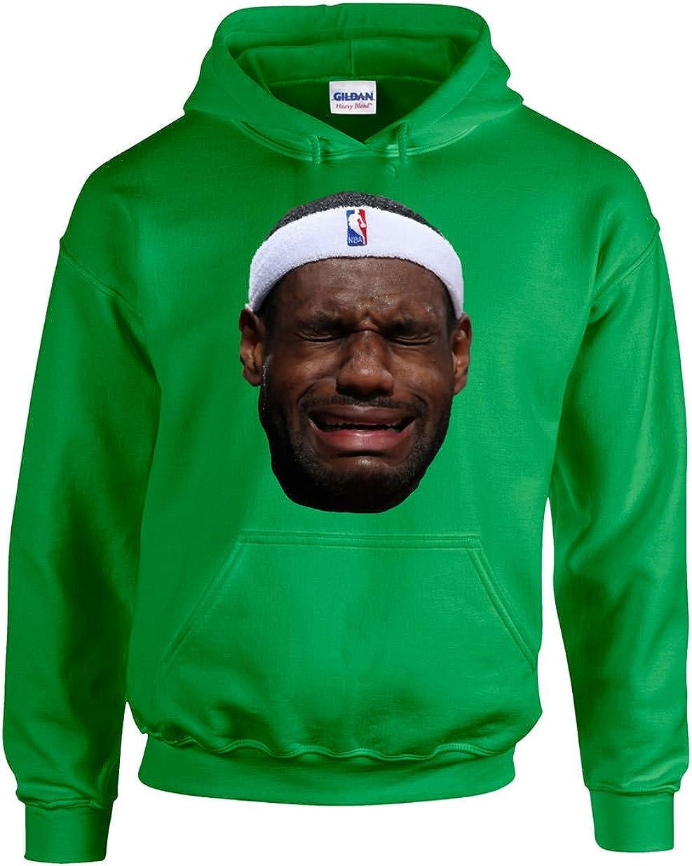 The Tune Guys Green Lebron Crying Face Hooded Sweatshirt