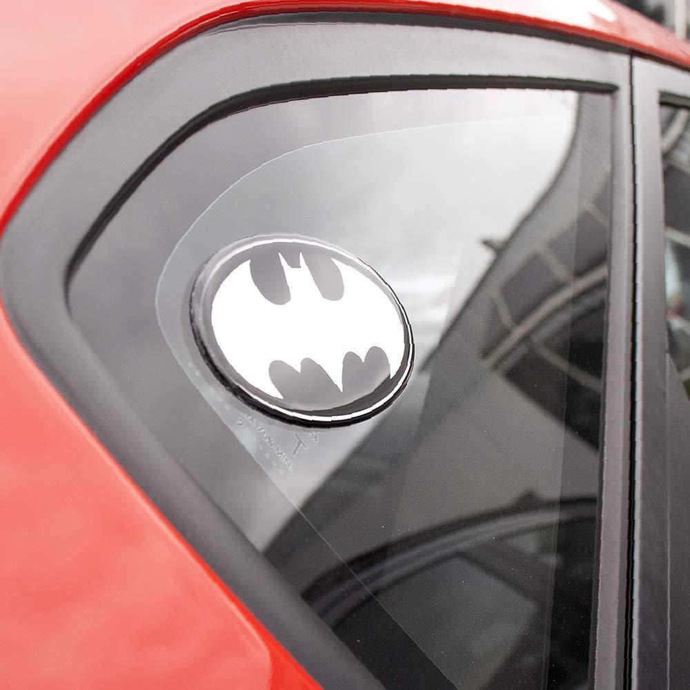 Fan Emblems Batman Logo Calcomanía del coche con cúpula / negro / acabado en cromo, DC Comics Pegatina del emblema automotriz se aplica fácilmente a ...