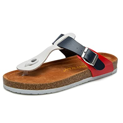 057e35cec9457b Women s Cork Footbed Sandals Pu Upper Roman Style C1035 (36