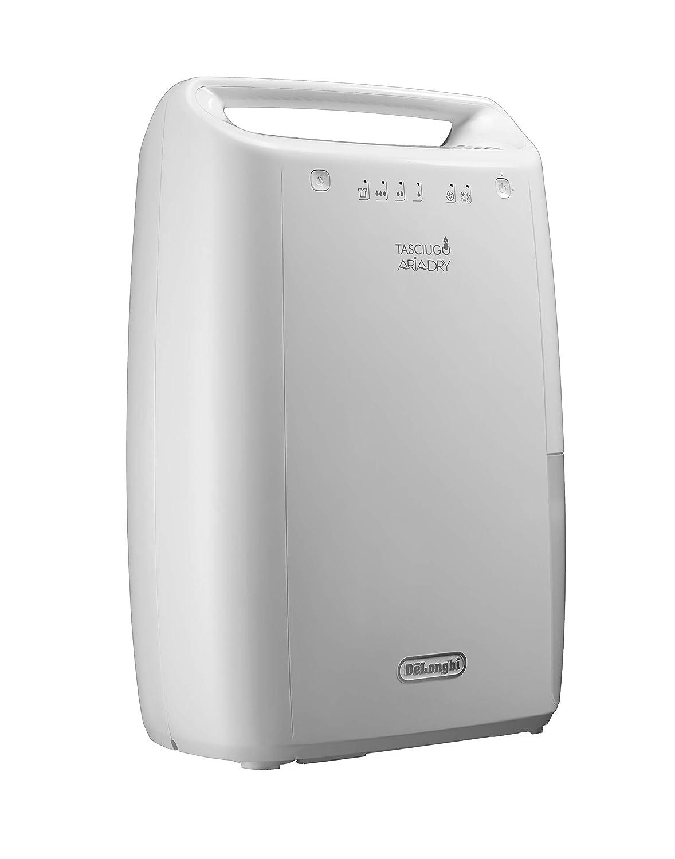 DeLonghi DEX210 Deshumidificador Silencioso, 10 L/d, filtro anti polvo, función secado ropa, dispositivo anticogelante, gas ecológico, sistema ...