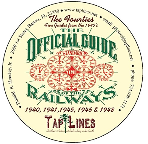 THE FOURTIES - 5 OFFICIAL GUIDES OF RAILWAYS COLLECTION - 1940, 1941, 1945, 1946, 1948 ALL on one CD ()
