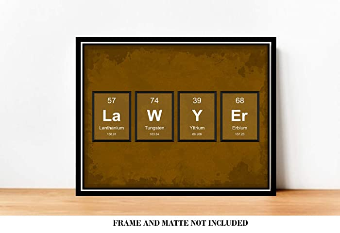 Amazon com: LAWYER Periodic Table of Elements Law Firm Decor