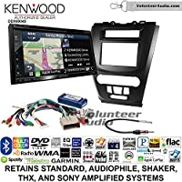 Volunteer Audio Kenwood Excelon DNX694S Double Din Radio Install Kit with GPS Navigation System Android Auto Apple CarPlay Fits 2010-2012 Fusion (Black)