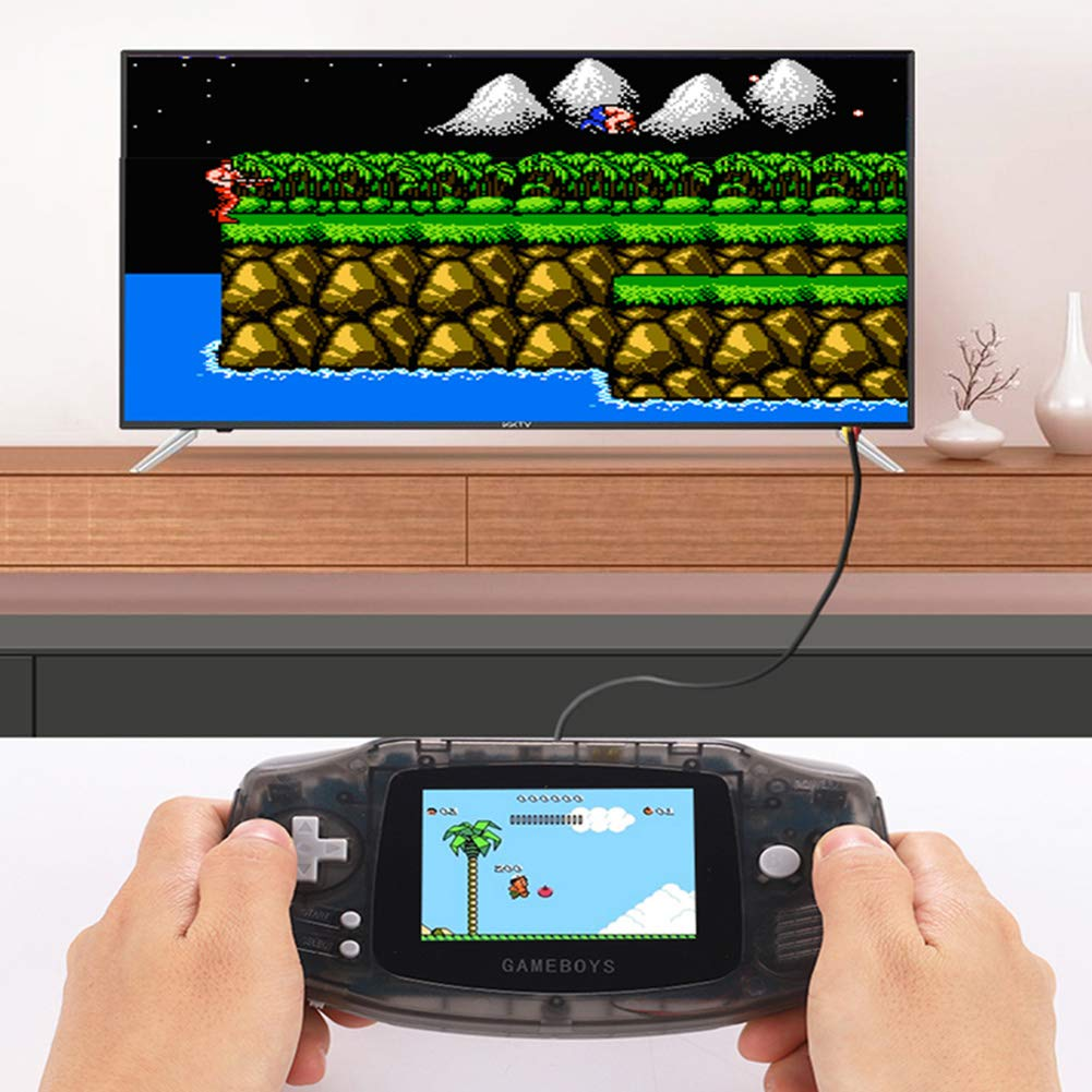 FAITHPRO Handheld Game Console with Built in 400 Games, 2 Player 3 Inch Screen USB Charger Supports TV Output Retro FC Video Game Console, Good Gifts for Kids and Adults by FAITHPRO (Image #5)
