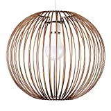 Retro Metal Basket Style Globe Ceiling Pendant Light Shade in a Copper Effect F