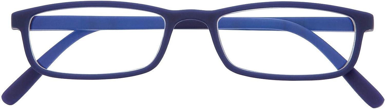 DIDINSKY Gafas de Presbicia con Filtro Anti Luz Azul para Ordenador. Gafas Graduadas de Lectura para Hombre y Mujer. Tacto Goma y Cristales Anti-reflejantes. 6 colores y 5 graduaciones – ARKEN SCREEN