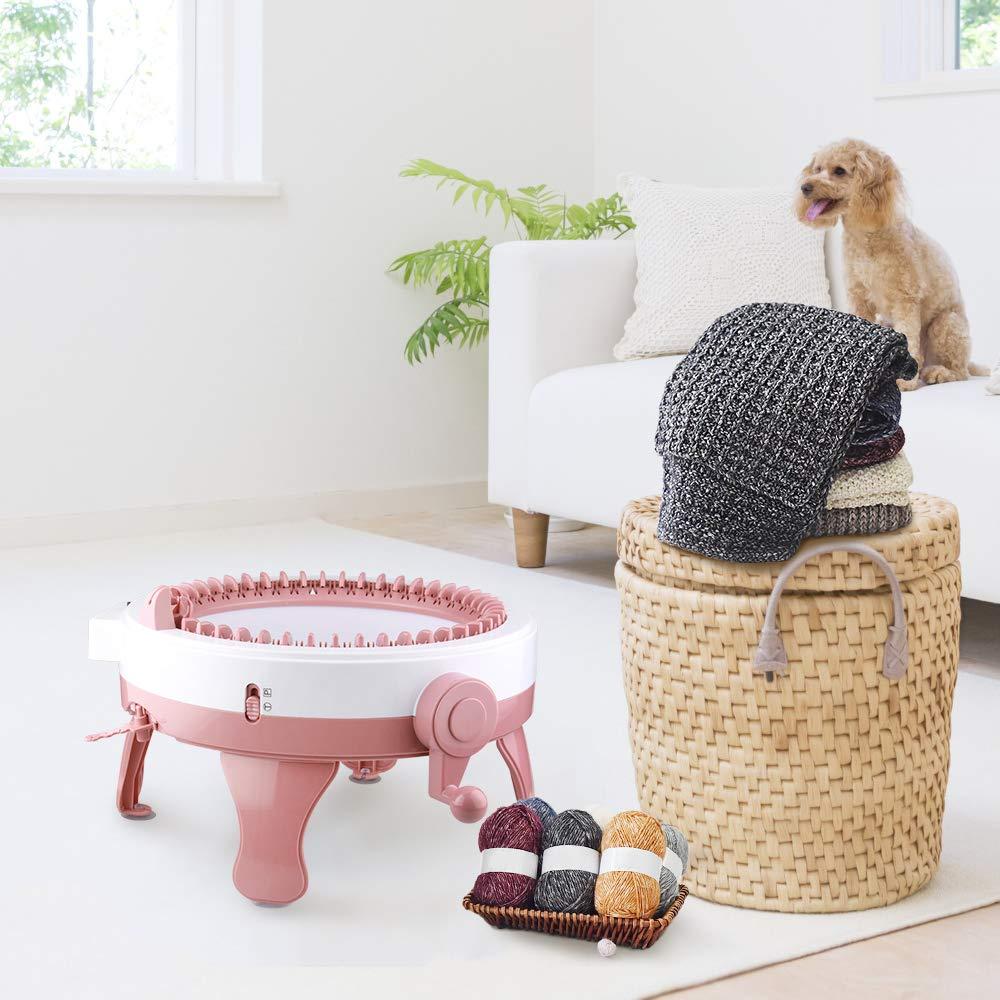 Knitting Machine, Smart Weaver Knitting Round Loom, Knitting Board Rotating Double Knit Loom, Needles Knitting Machine Weaving Loom Kit for Adults and Kids by MIAOKE (Image #4)