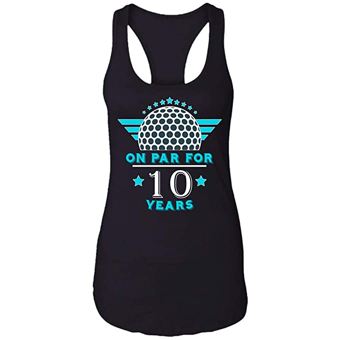 Amazon On Par For 10 Years Golfer Birthday Gift Ideas Mens Women Re Racerback Tank Top Clothing