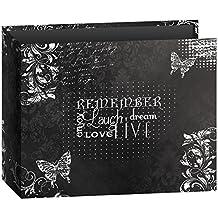 Pioneer Photo Albums T-12CHLK/R 3-Ring Printed Chalkboard Design Binder Remember Scrapbook, 12 by 12-Inch