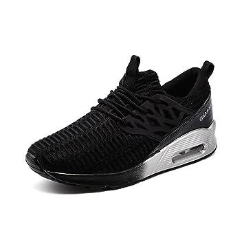Damen / Jungen Breathable Casual Sneakers Sommer und Herbst Fashion Elastic Mesh Sportschuhe Leicht und rutschfest , white , 44
