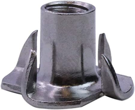 Qty 25 4 Prong Stainless Steel T-Nut UNC 3//8-16 x 7//16