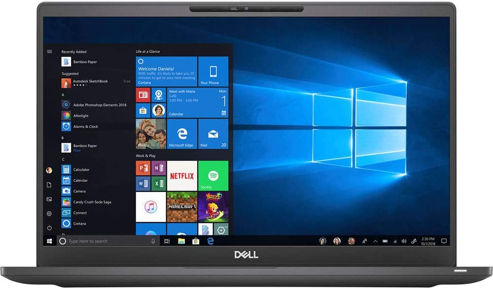 "Dell Latitude 7410 Laptop (Carbon Fiber) - 14"" FHD W/IR Camera - 1.7 GHz Intel Core i5-10310U Quad-Core - 8GB of DDR4 RAM - 256GB M.2 SSD - Windows 10 pro"
