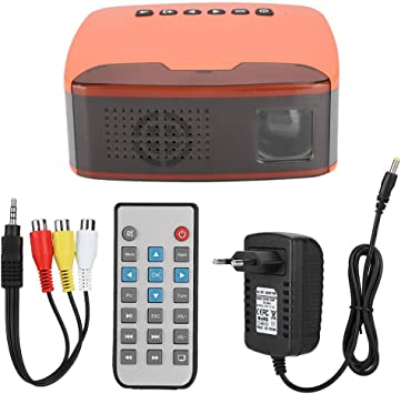 Opinión sobre Super Mini proyector Portátil 1080P HD LED Proyector de Bolsillo Home Cinema Beamer Compatible con HDMI, VGA, AV, USB, TF para Cine en casa, películas, Videojuegos, Fiestas y acampadas(110-240V EU)