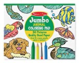 Image of Melissa & Doug Jumbo Coloring Pad (11 x 14 inches) - Animals, 50 Pictures
