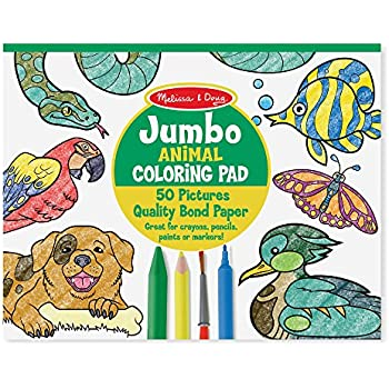 melissa doug jumbo coloring pad animals - Coloring Book Animals