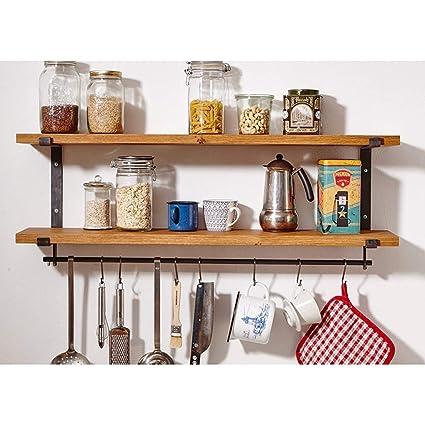 Pot Storage Wall Rack with Hooks