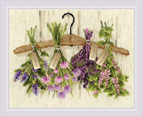 "RIOLIS 1717 - Herbs - Counted Cross Stitch Kit - 12"" x 9"" 14"