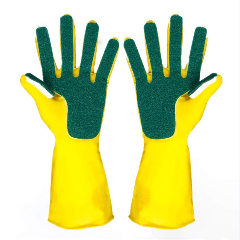 BHPSU 1 Paar kreatives Hauswasch-Handschuhe, wasserfest, Gartenschüsselschwamm, Finger, Gummi, Handschutz, Küche, Haushalt zum Geschirrspülen