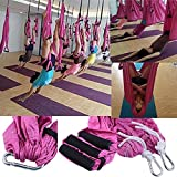 Agptek-Yoga-Straps-Trapeze-Yoga-SwingSlingInversion-Tool-Aerial-Yoga-Supplies-Swing-Inversion-Trapeze-Series-Yoga-Class-AccessoriesYoga-Straps-and-Sling-Hammock