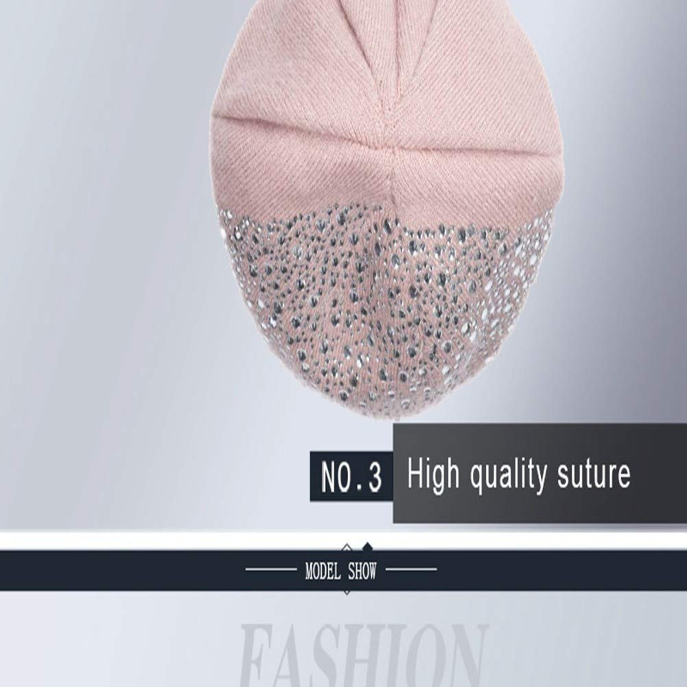 HBGVCDES Cappello da Donna con Cappuccio a Forma di Cappello da Donna in Maglia da Donna con Visiera in Cotone Lavorato a Mano
