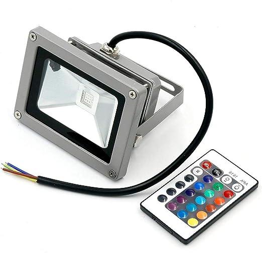 Eidyer Foco led exterior RGB de,10W RGB Foco LED Proyector de ...